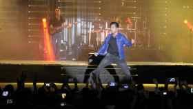 David Bustamante durante un concierto en Málaga este agosto.
