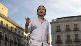 Pablo Iglesias en la Puerta del Sol de Madrid