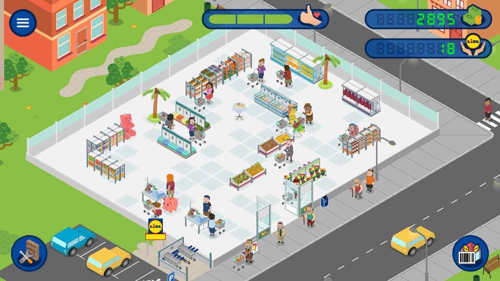 Uno de los fotogramas del videojuego.