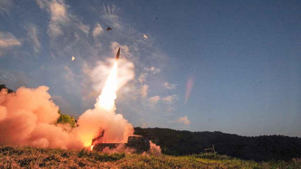 Lanzamiento de un misil surcoreano, el pasado lunes.