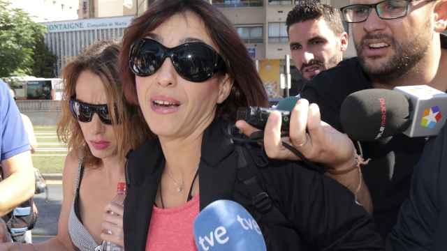 Juana Rivas a su llegada a los juzgados de Granada para declarar como investigada