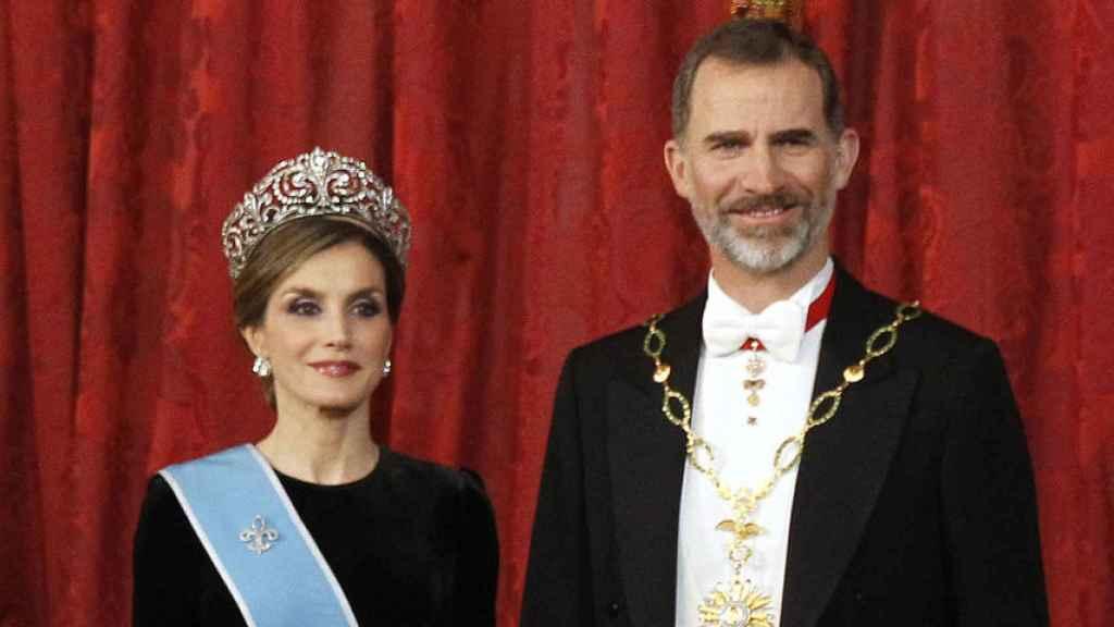 Los monarcas en su visita a Londres este año.