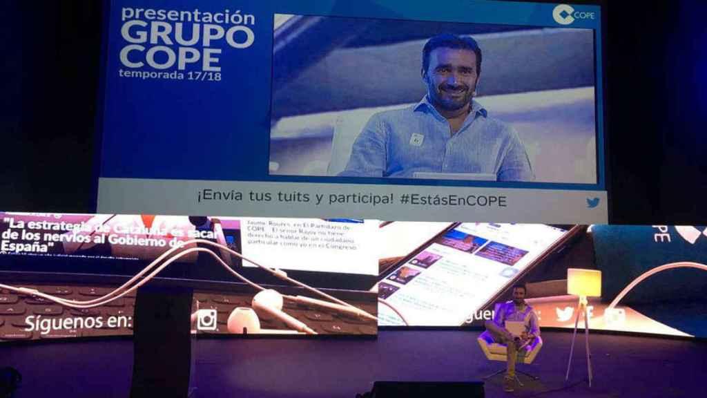 Juanma Castaño, presentador de la gala de presentación de la temporada de Cope.