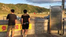 Turistas en Tumen, punto fronterizo entre China y Corea del Norte.