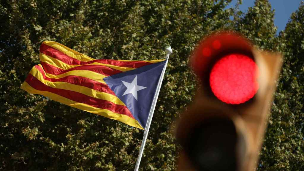 Imagen de una estelada en Barcelona.