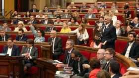 El pleno del Parlament este miércoles.