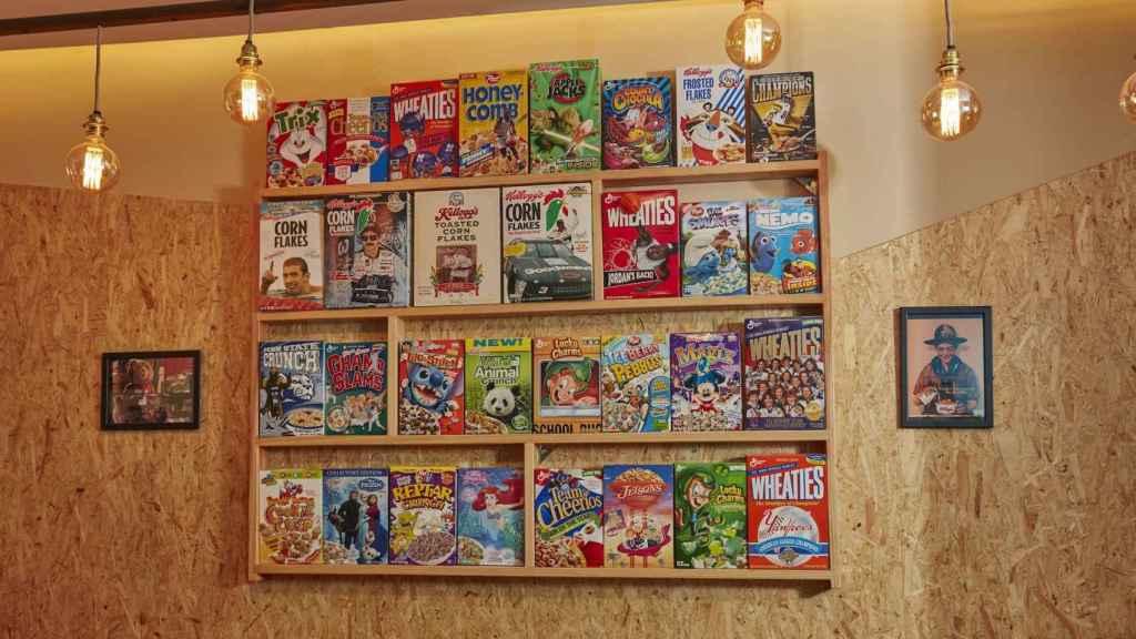 Algunos de los cereales disponibles en Cereal Hunters Café.