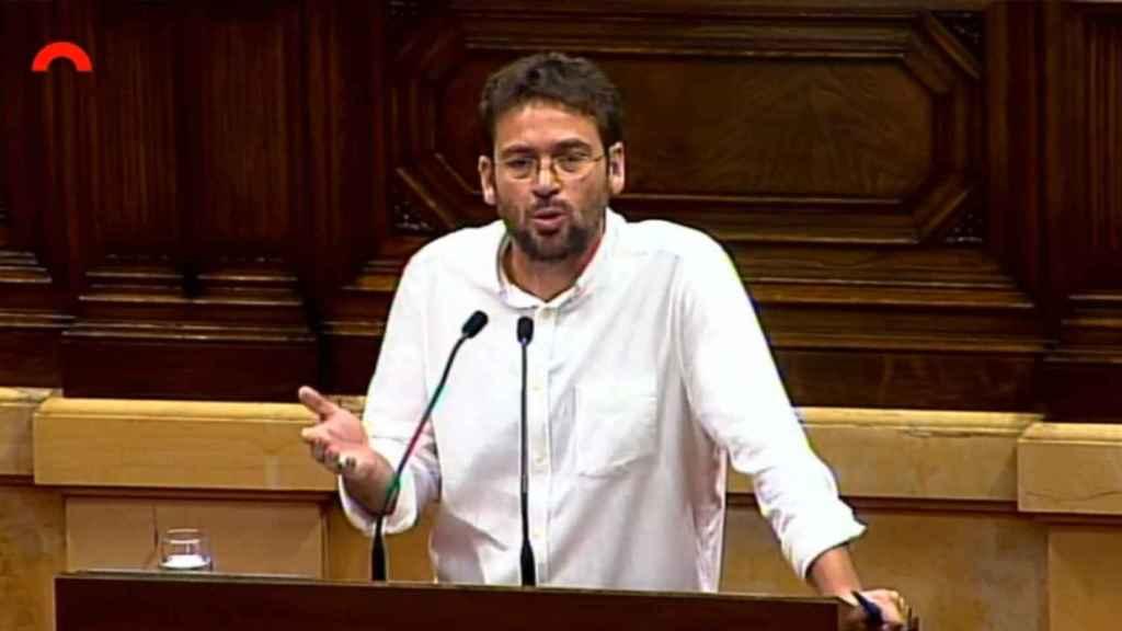 Albano Dante, en el Parlament.