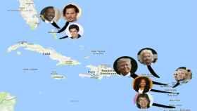 Las casas de los famosos en El Caribe corren peligro por el huracán Irma