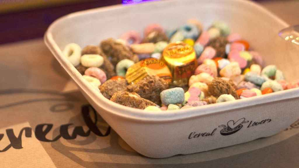 Uno de los tazones de Cereal Lovers.