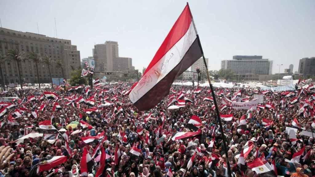 Imagen de las protestas en la Plaza de Thrir.