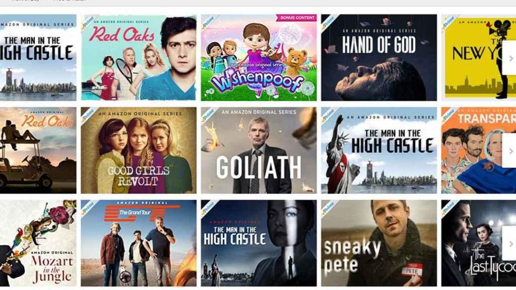 Catálogo de series de Amazon Prime Video.
