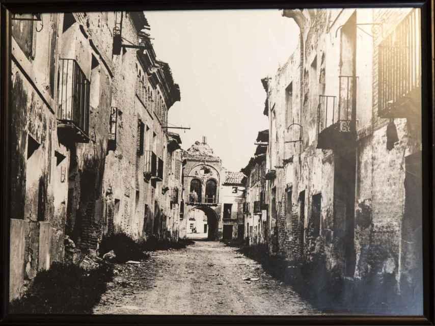 Los bombardeos sobre Belchite destrozaron buena parte del pueblo.