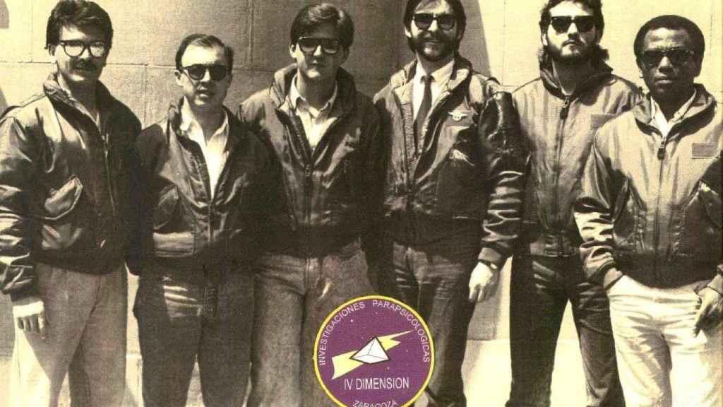 El equipo de 'Cuarta Dimensión' que trabajó sobre Belchite.