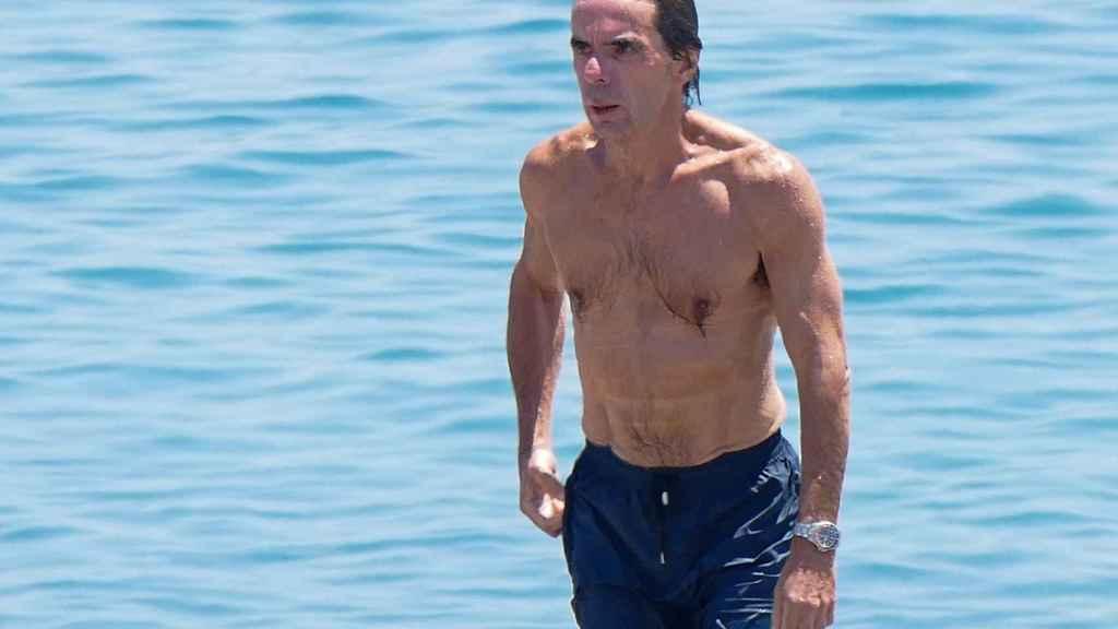 Aznar durante las vacaciones de 2017 en Marbella.
