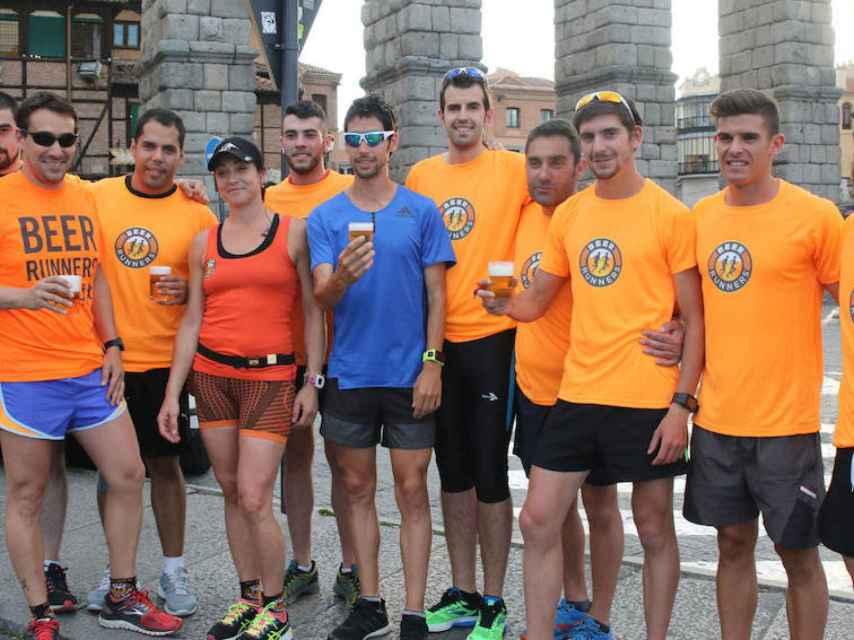 Quedada de Beer runners con Javi Guerra.