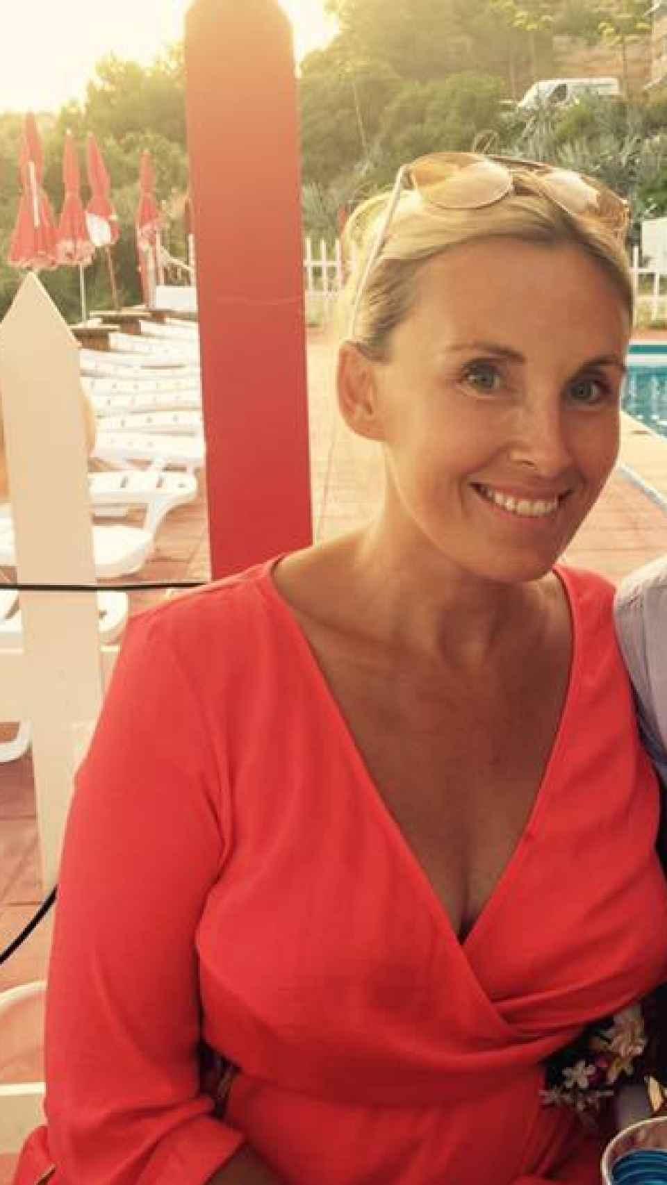 Laura en su lujoso chalet de Mallorca