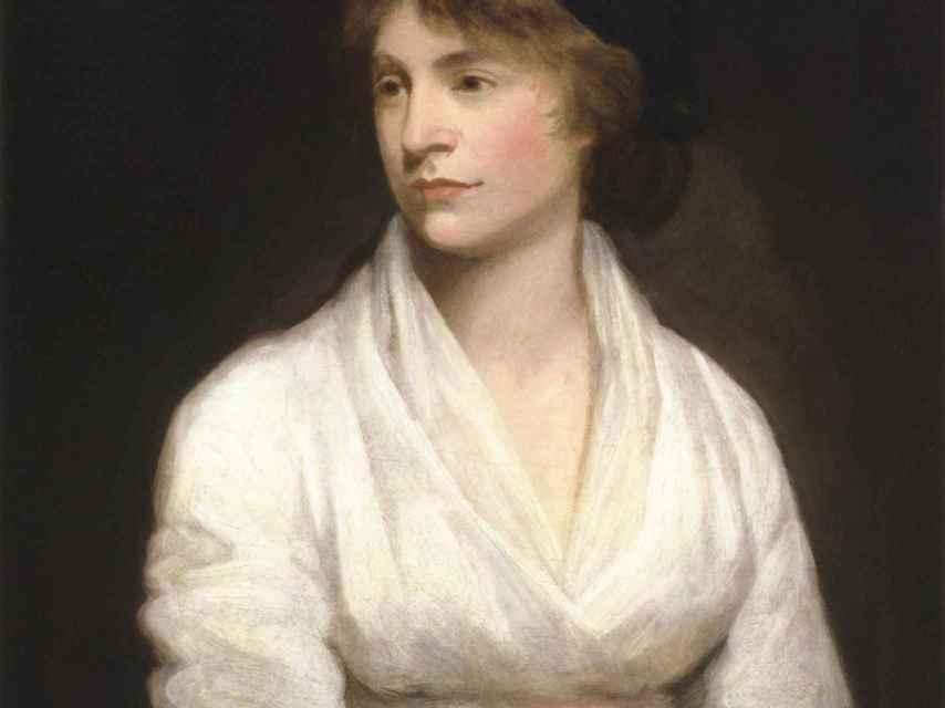 Mary Wollstonecraft retratada por John Opie en 1797.