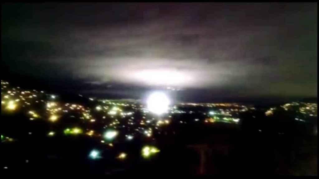 Una de las luces de terremoto grabadas.