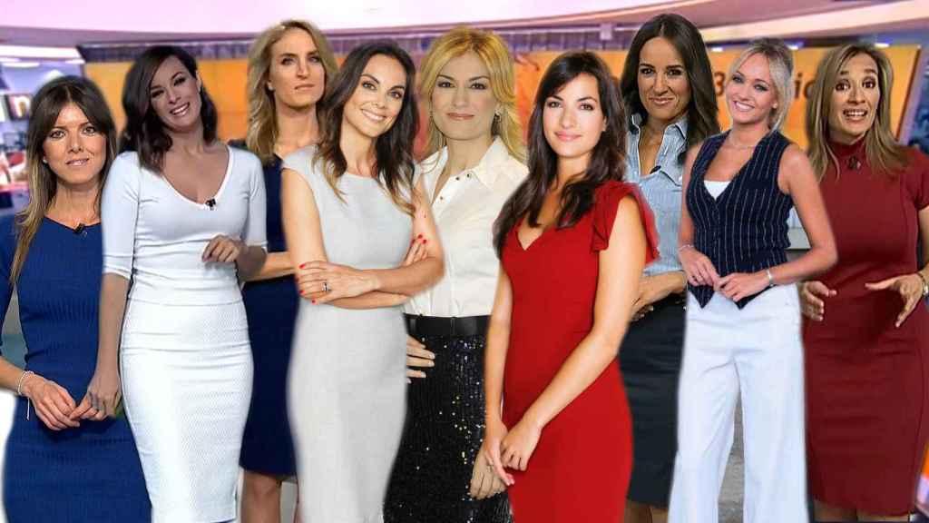 Las periodistas de los informativos de Antena 3.