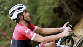 Alberto Contador, durante una etapa de esta Vuelta a España.