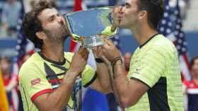 Rojer y Tecau, con el título de campeones del US Open.