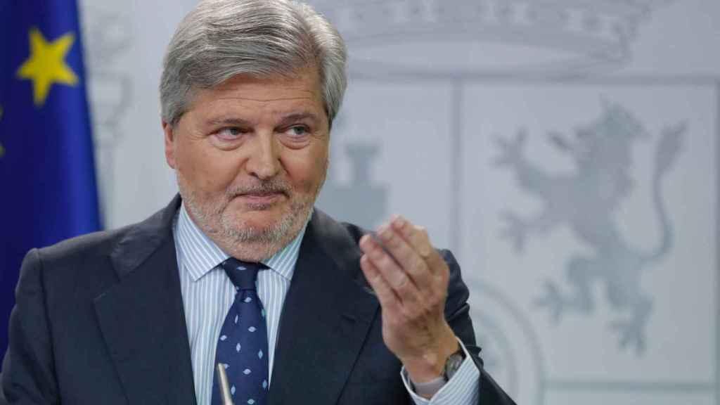 Méndez de Vigo durante la rueda de prensa posterior al Consejo de Ministros