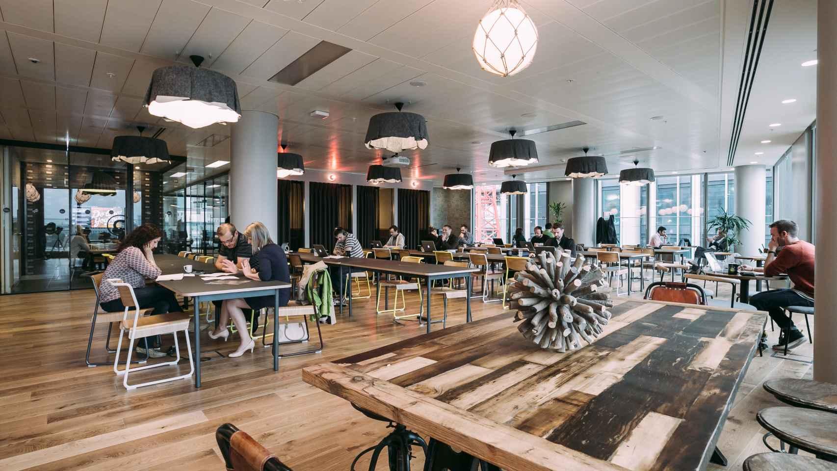 Vista de las oficinas de WeWork en Londres.