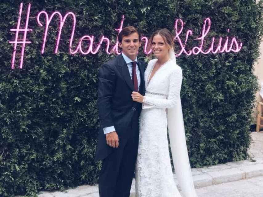 Luis y Martina ya convertidos en marido y mujer.