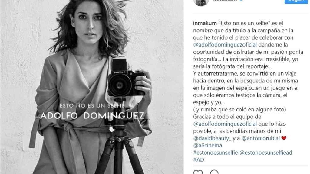 Inma Cuesta, protagonista de la nueva campaña de Adolfo Domínguez.