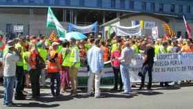 Imagen de la huelga de examinadores.