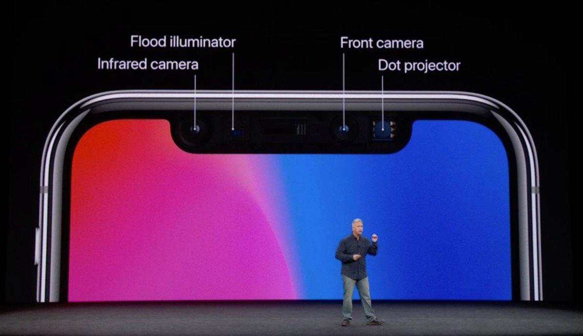 sensores faceid iphone x
