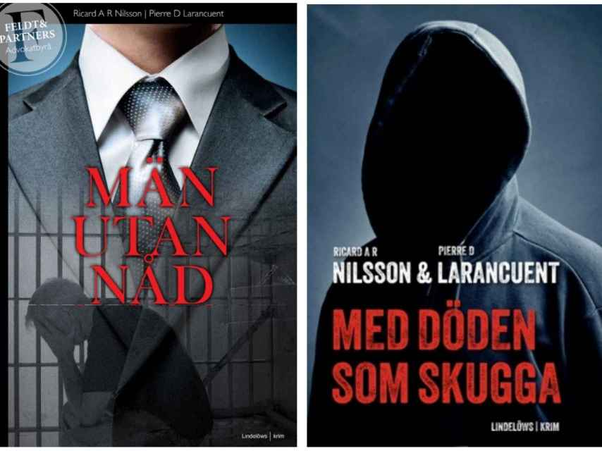 Portadas de las novelas escritas por Ricard A. R. Nilsson y Pierre Danilo Larancuent.