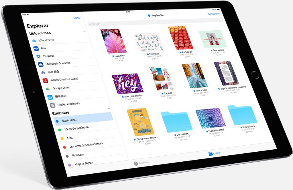 explorador archivos ios ipad apple
