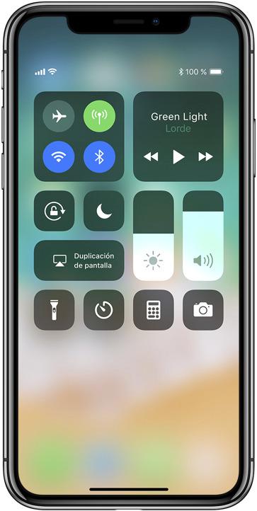 centro de control ios 11 apple iphone x