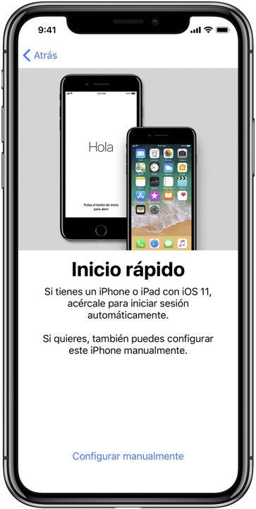configuracion automatica ios 11 apple iphone x
