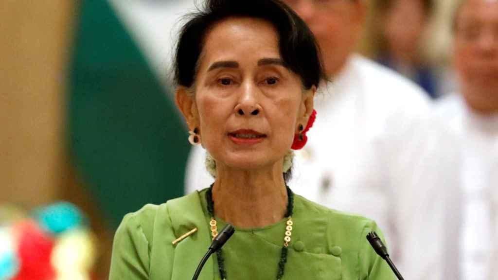 Aung San Suu Kyi, en una foto de archivo.