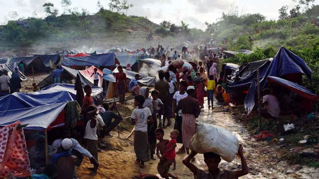 Uno de los campos de refugiados en Bangladesh.