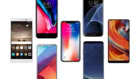 iphone x vs otros telefonos