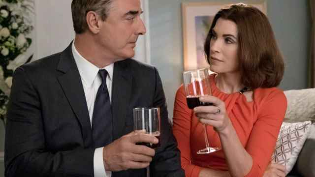 Los actores Chris Noth y Julianna Margulies, que interpretan a Peter y Alicia Florrick en The Good Wife.