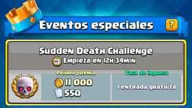 Nuevo desafío en Clash Royale: gana cartas y oro en combates con muerte súbita