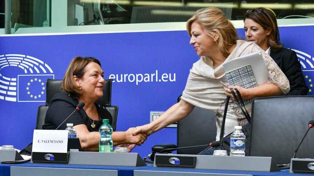 Elena Valenciano,  en el Parlamento Europeo.