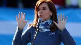 Cristina Fernández de Kirchner durante un acto electoral en Buenos Aires.