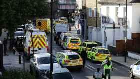 Ambulancias en los alrededores de la estación de Parsons Green.