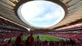 Otra vista del Wanda Metropolitano lleno.