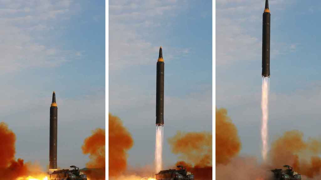 Imagen del último lanzamiento norcoreano.