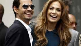 Marc Anthony junto a Jennifer López en una imagen de archivo