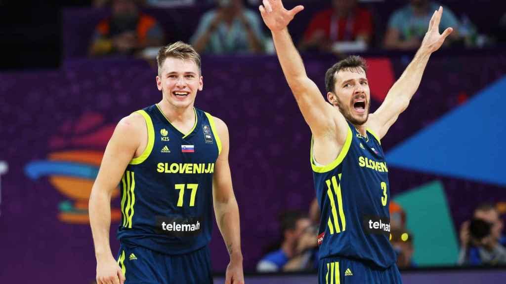 Luka Doncic y Goran Dragic, alumno y maestro en el Eurobasket.