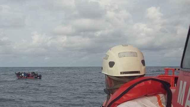 Un operario de Salvamento Marítimo en una imagen de archivo.