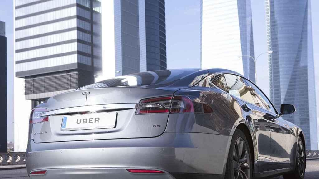 Coche de Uber comprado a Tesla, en una imagen de archivo.